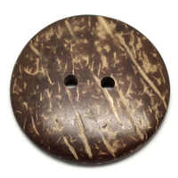 """100PCs Brown Coconut Shell 2 Holes Sewing Buttons Scrapbooking 44mm(1-3/4"""")Dia"""
