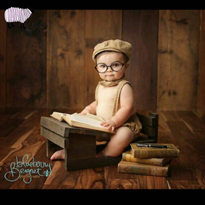 Newborn Baby Photography Writing Desk Props Baby Girl Boy Photo Shoot Studio Posing Wooden Props Bebe Fotografia Accessories