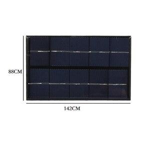 Image 4 - USB Панели солнечные на открытом воздухе 5W 5V Портативный Солнечный Зарядное устройство панели восхождение быстро Зарядное устройство поликристаллический кремний и планшеты на солнечных батареях для путешествий