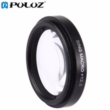 For Go Pro Accessories 37mm 12 5X Macro Lens Filter Lens Protective Cap for Xiaomi Xiaoyi