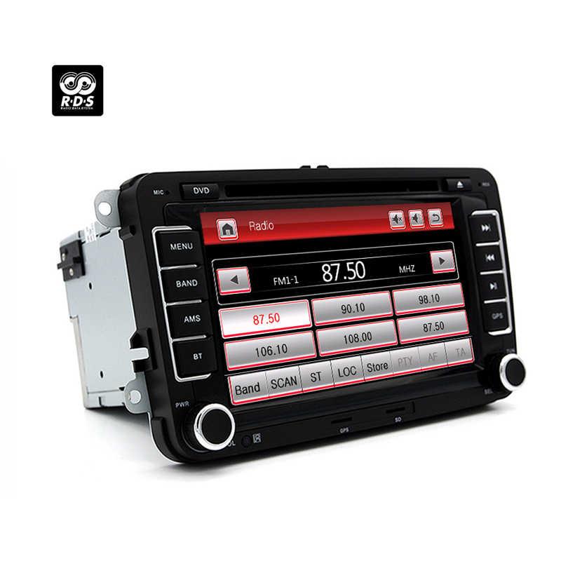 Auto lettore Multimediale GPS 2 Din Per vw golf 4 5 6 7 passat b5 b6 b7 Polo Tiguan Leon skoda octavia Fabia SEAT leon Bora Rapida RD