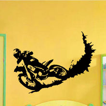 Calcomanías de vinilo de pared motocross suciedad bicicleta moto bike decal sticker home decor