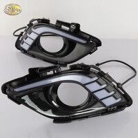 SNCN LED Daytime Running Lights for Mazda 6 2013 2014 2015 ABS fog lamp cover 12V DRL
