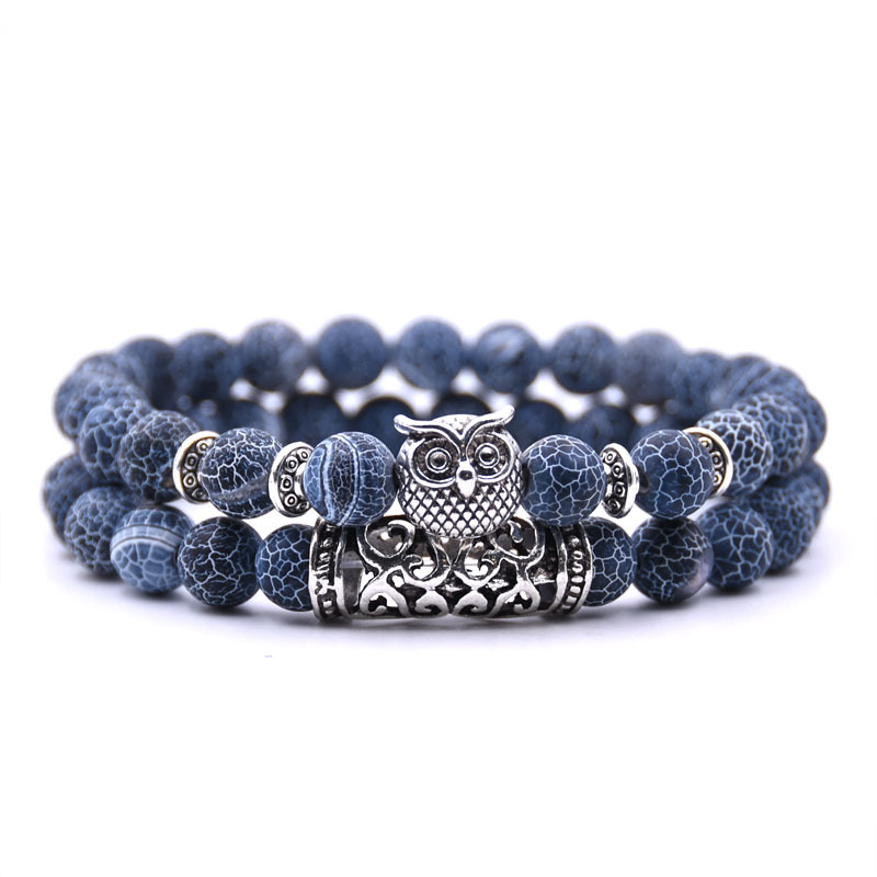 2 шт./компл. Мода Пара тигровый глаз камень браслеты на руку и щиколотку классические черный, белый цвет натуральные камни из лавы Шарм брасл...