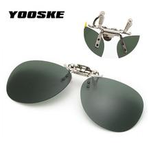 YOOSKE Fashion Frameless Pilot Sunglasses Men Polarized Clip