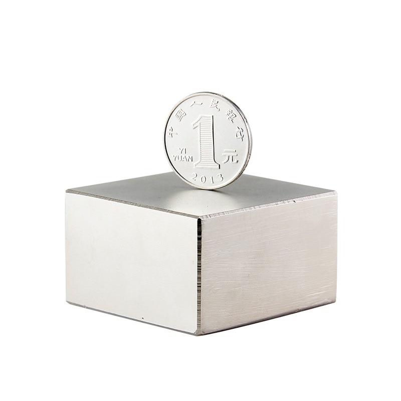 50 pz Blocco 50x50x30mm Super Strong Rare magneti Della Terra N42 Magnete Al Neodimio di Alta Qualità