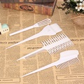 6Pcs 1 Set White Plastic Hairdressing Hair Dye Color Bowl Color Mixing Comb Brush Kit Set Styling Tools