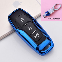 2019 Zachte Tpu Key Cover Case Voor Ford Fusion Mondeo Mustang F 150 Explorer Edge 2015 2016 2017 2018 Auto Styling sleutel Bescherming