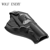 Tactical Army Force Leather Revolver Pistol Holster Short