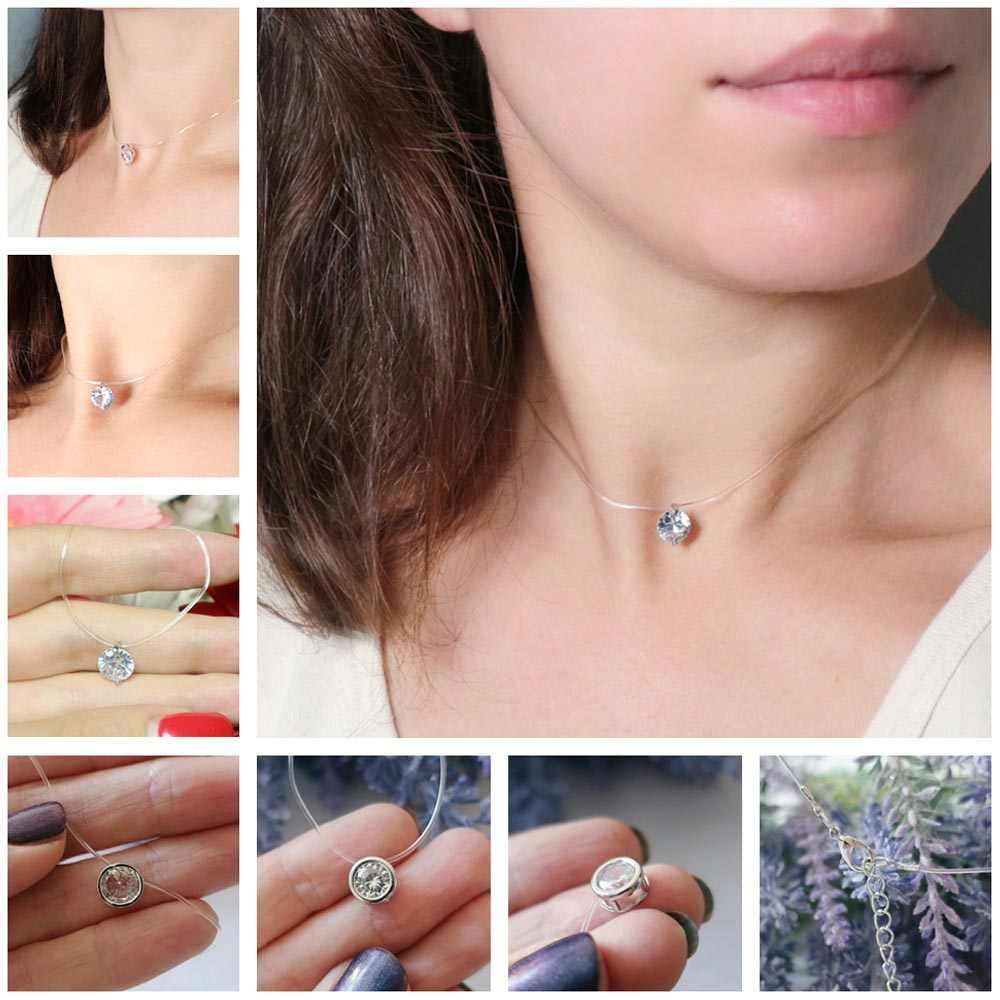Горячее ожерелье для женщин подвеска колье ожерелье женские ожерелья Серебряная леска ключицы ожерелье 2018 Новая мода оптовая продажа