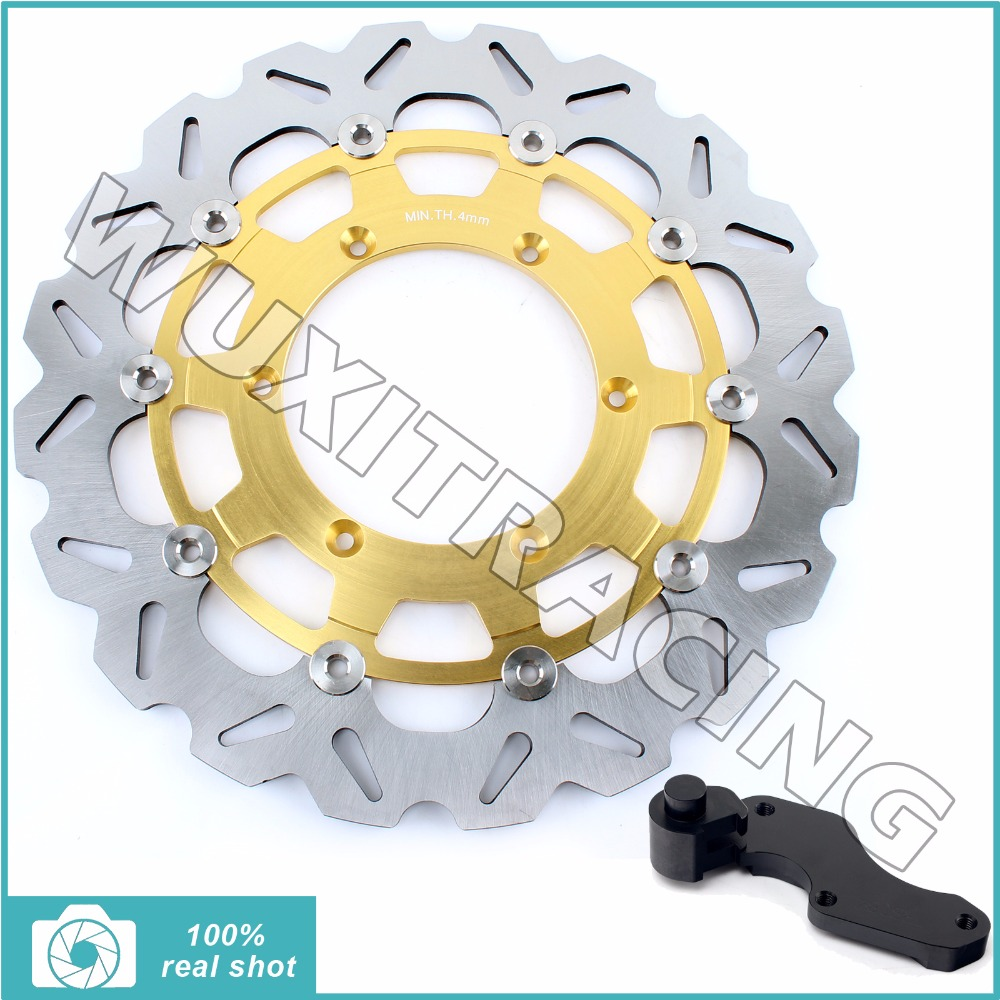 Oversize 320MM Front Brake Disc Rotor Bracket Adaptor for SUZUKI RM125 RM250 96-12 DRZ S E 400 00-09 01 SV SM (Italy) 125 05 06 fit for rm 125 00 09 rm250 00 01 02 03 04 05 06 07 08 09 10 11 12 front rear brake disc rotor bracket bracket oversize 320mm