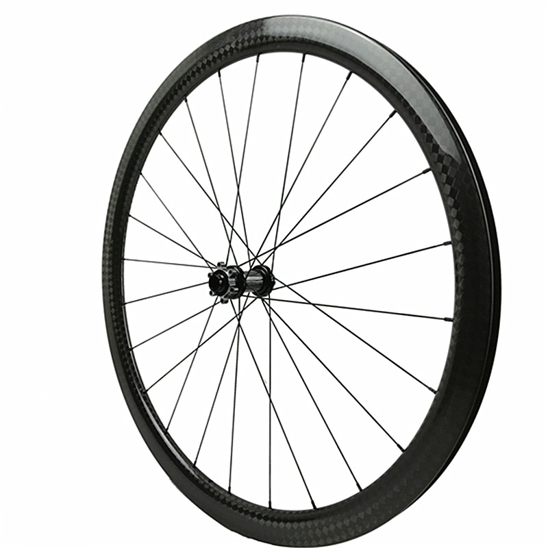 700c carbon road wheel powerway CX32 100x15 clincher front wheels Disc Brake carbon disc wheels 38