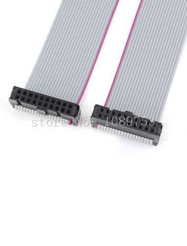 10pcs FC-20P 20 Pins 2.54mm Pitch 20cm JTAG AVR Download Cable Wire Connector Gray Flat Ribbon Data Cable