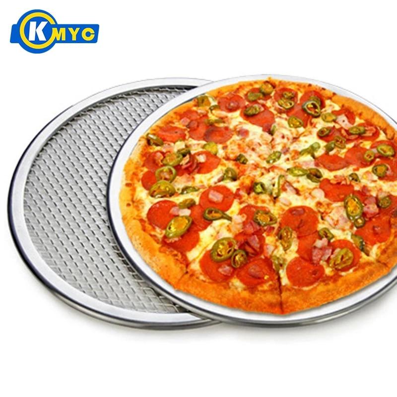 Aluminum Pizza Tray Mesh Pan Pancake Net Pastry Bakeware Baking Tools Welcome