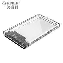 ORICO 2 ТБ Мобильный HDD Корпус USB 3.0 для SATA HDD Жесткий Диск Внешний Корпус Дело без винтов Для Windows/Mac