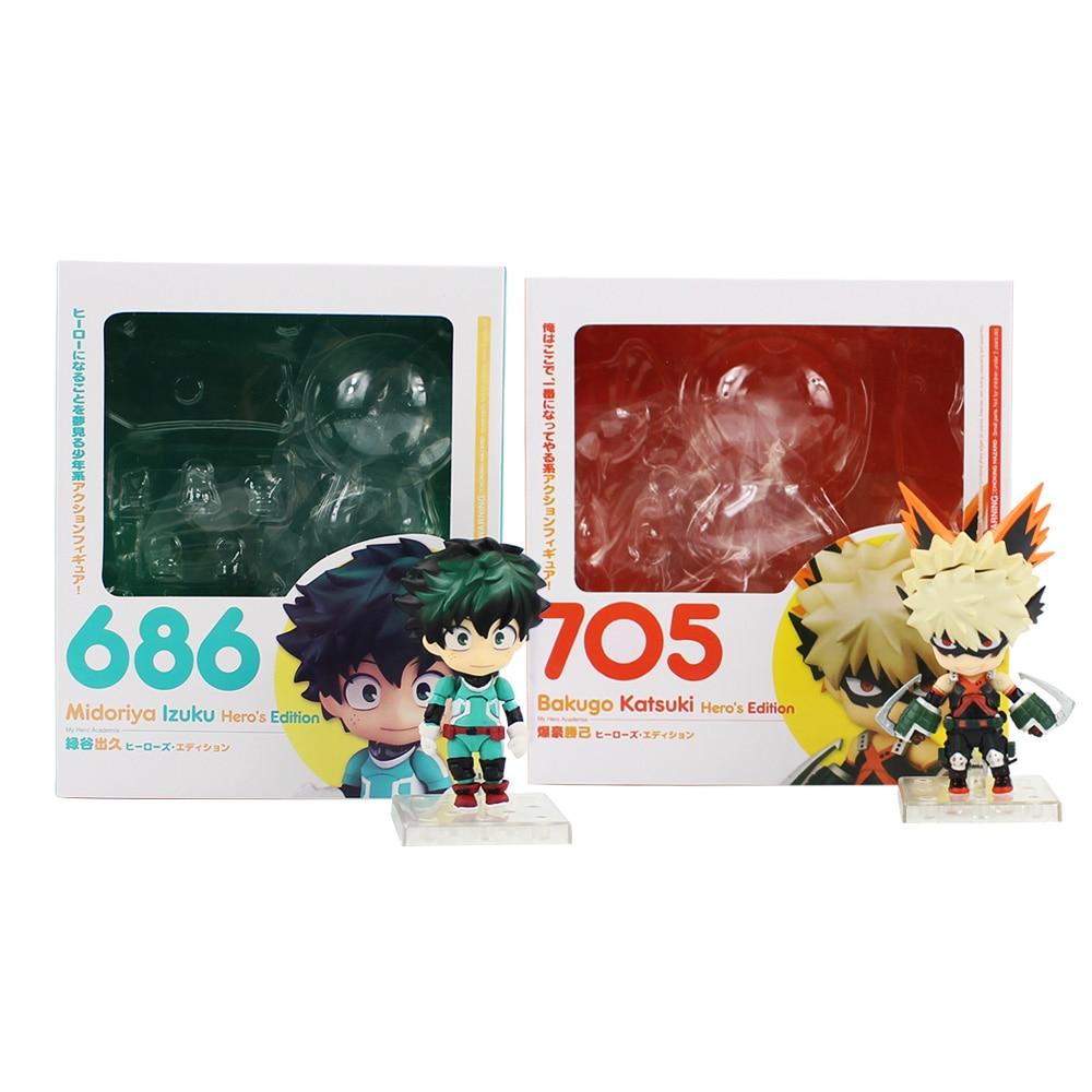My Hero Academia Nendoroid 686 # 705 # Boku no Hero Izuku Midoriya Katsuki Bakugo Hero`s Edition Action Figure ToysMy Hero Academia Nendoroid 686 # 705 # Boku no Hero Izuku Midoriya Katsuki Bakugo Hero`s Edition Action Figure Toys