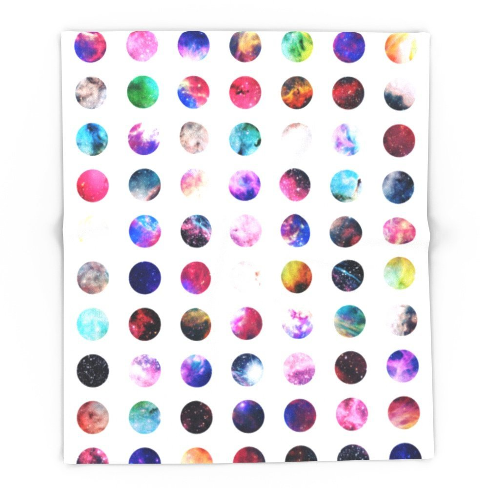 rainbow nebula galaxy girly polka dots pattern 88 x 104 blanket in blankets from home garden on aliexpresscom alibaba group