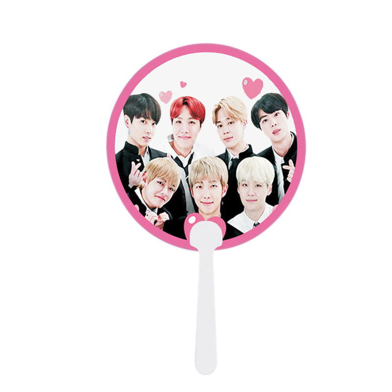 Style; Kpop Got7 Portable Summer Hand Fans Jb Jinyoung Mark Jackson Youngjae Costumes Cartoon Toy Collection Hf140 Fashionable In