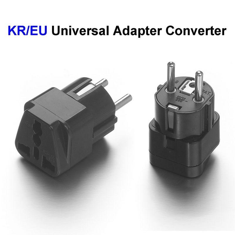 500pcs High Quality Universal Eu South Korea Plug Adapter