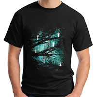 New Mononoke Forest Spirit Kodama Totoro Miyazaki Men S Black T Shirt