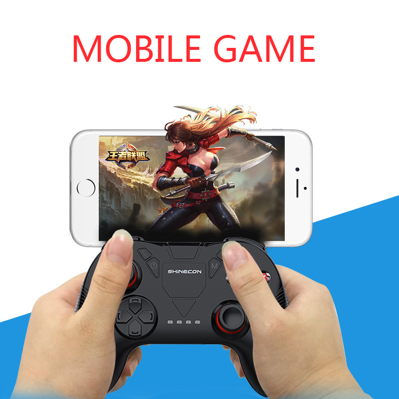 SHINECON  Wireless  Mobile Phone Bluetooth Adapter King Glory Eat Chicken Gamepad For Android/ IOS Tablet PC Phone