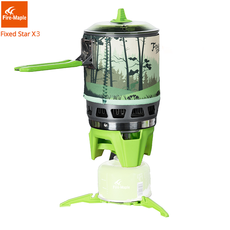 Fire Maple Camping Gas Burners Outdoor Backpacking Cooking System 2200W 0 8L 600g With piezo ignition