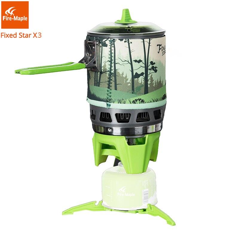 Brûleurs à gaz de Camping en érable feu système de cuisson en plein air 2200 W 0.8L 600g avec FMS-X3 de cuisinière à gaz à allumage piézo-électrique