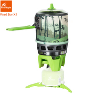 Fire Maple Camping Gas Burners Outdoor Backpacking Cooking System 2200W 0.8L 600g With piezo ignition Gas Stove FMS X3
