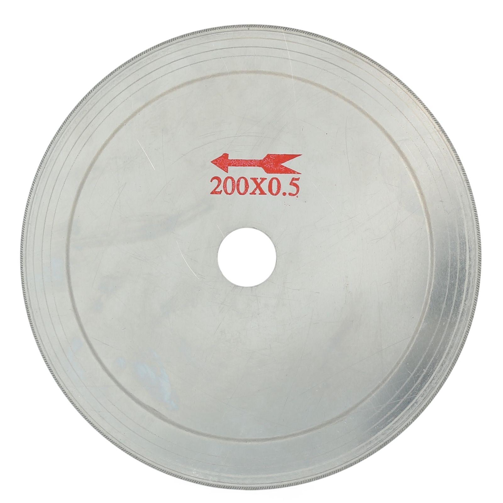 5Pcs 8 inch 200 mm Ultra-thin Diamond Lapidary Saw Blade Cutting Disc 0.65 Rim ILOVETOOL
