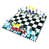 Children Gift Wooden Chess European American Style Cartoon Modeling Puzzle Chess Toys Funny Antistress Kids Toy