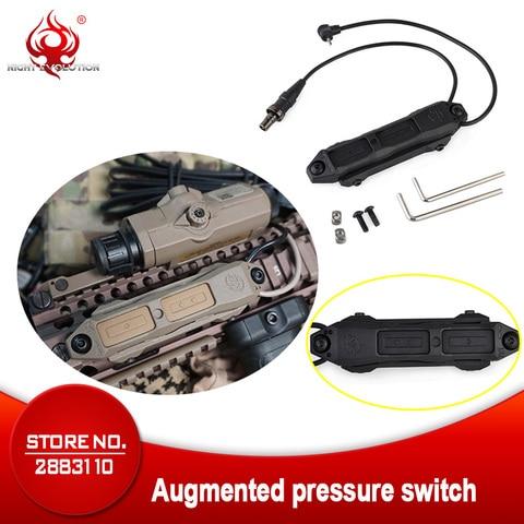 elemento airsoft tatico luz peq 15 16a dbal interruptor de pressao controle duplo lanterna peq