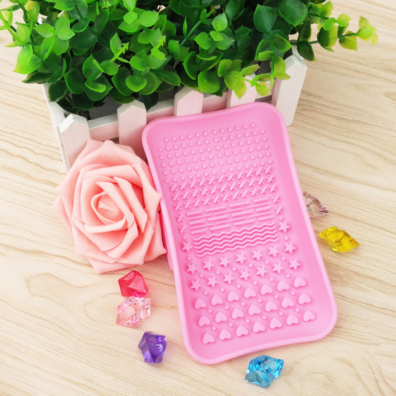 Silicone Brush Cleaning Tools Soap Dish Shape Cosmetics Cleaner Washing Brushes Cleansers (4)