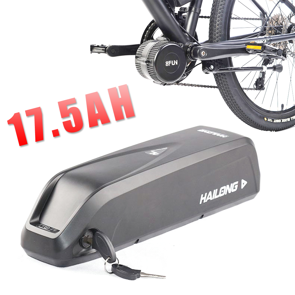 Hailong battery with USB Sanyo GA cell 48V 17.5Ah Li-ion electric bike battery for Bafang 1000W BBSHD motor kit electric bicycle battery 36v 30ah electric bike lithium ion battery fit 36v 1000w 500w bafang e bike for samsung 18650 cell