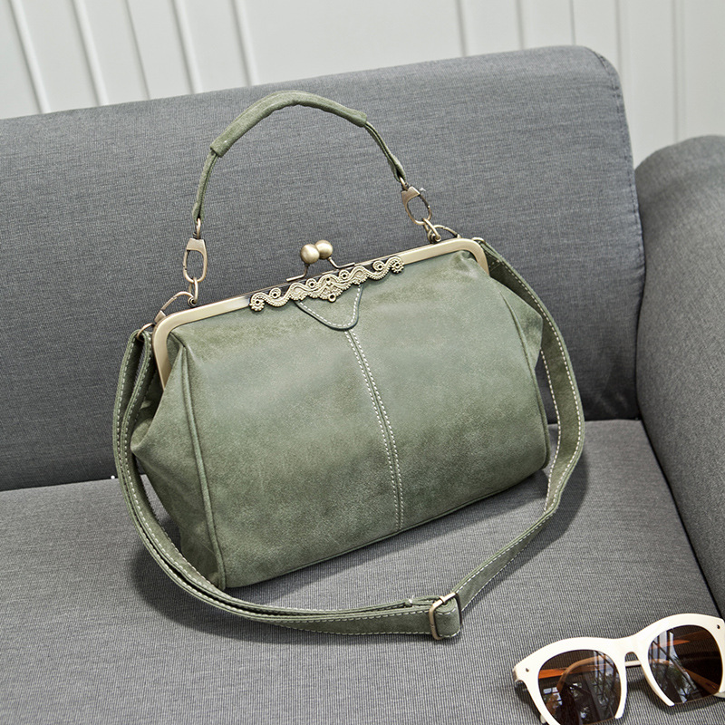 ZHIERNA 2017 new brand vintage bags retro PU leather tote bag women messenger bags small green clutch ladies shoulder handbags brand vintage retro 100