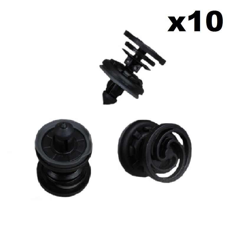 50 piezas de coche puerta lateral moldura clips de panel sujetadores con arandelas de goma negra W714231S300 1571079 para agujero de 8 mm