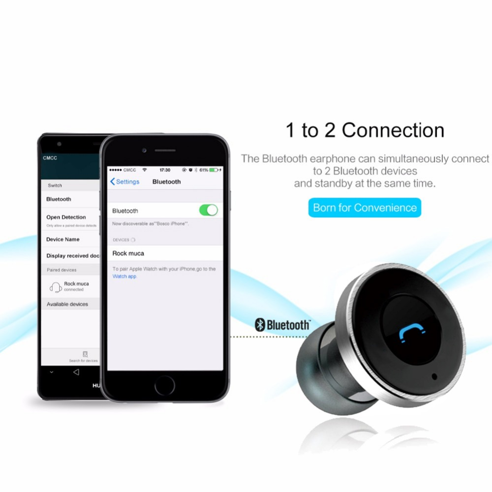 Aliexpress com buy 2016 remax 2in1 mini bluetooth headphones usb car charger dock wireless car headset bluetooth earphone for iphone 7 6s android from