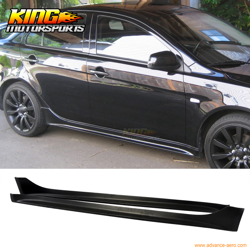 For 08-17 Mitsubishi Lancer OE Style PP Side Skirt