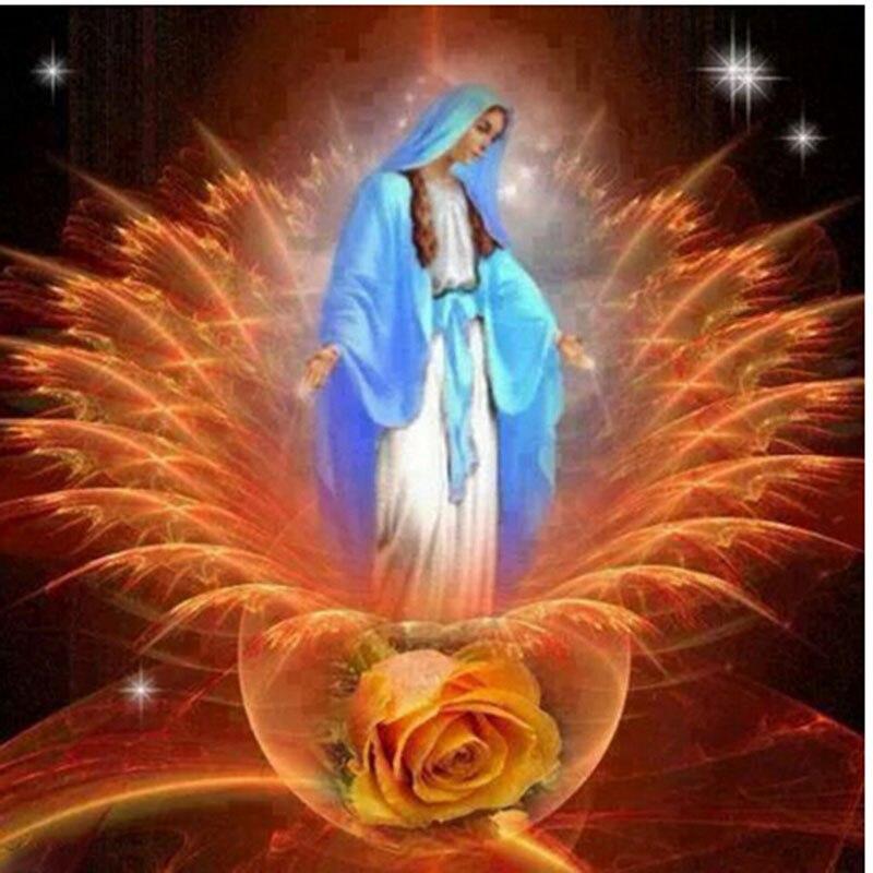 Цифры Алмазная вышивка религиозных Цветы DIY ромба картина стразами Наборы для вышивания бисером рукоделие