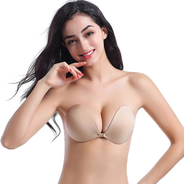 c04f88280c275 Fly Bra Strapless Silicone Push Up Invisible Bra Self Adhesive Backless  Bralette Lift Plus Size Seamless Women Bras