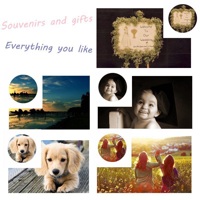 Custom Gifts Logo Word souvenirs Customized Family Lover Friend Child Photo Wedding present Festival Birthday Fridge