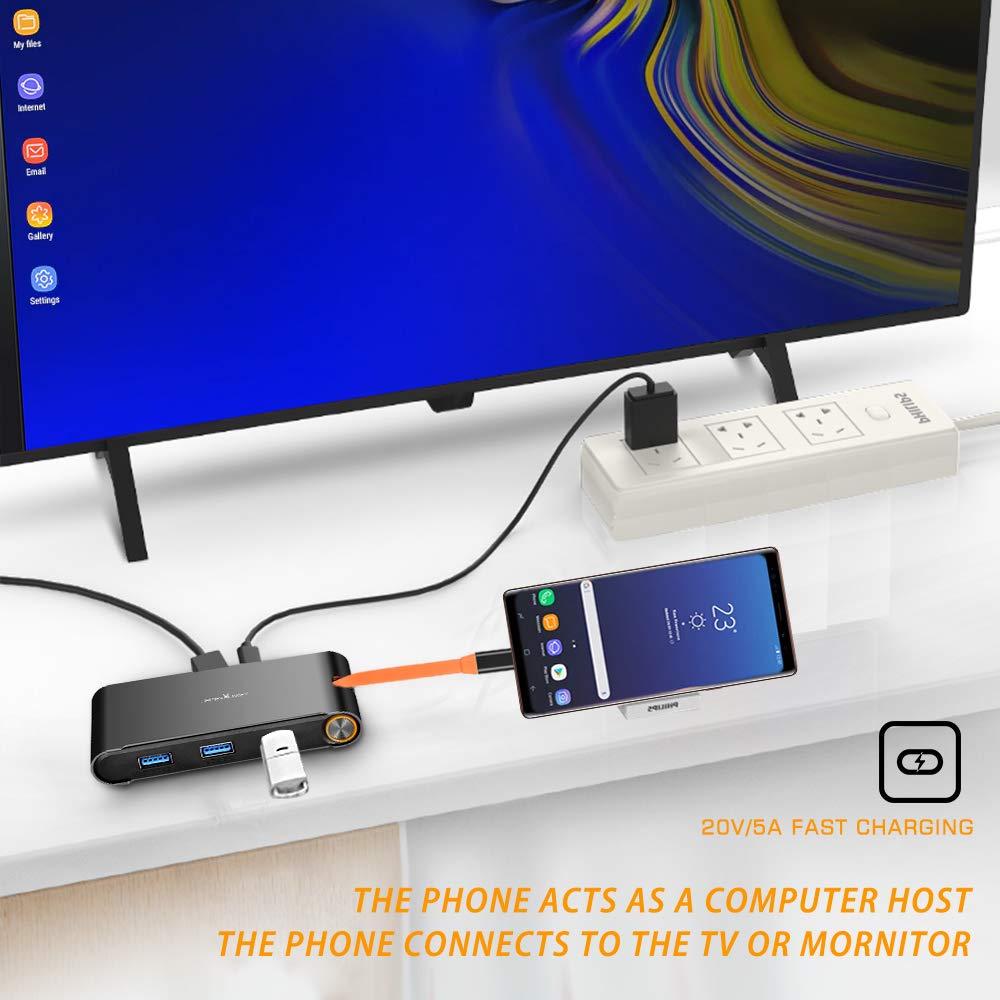 James burro 7 en 1 USB C Thunderbolt 3 Hub portátil Universal Docking Station con HDMI/VGA y gigabit Ethernet para Apple - 3