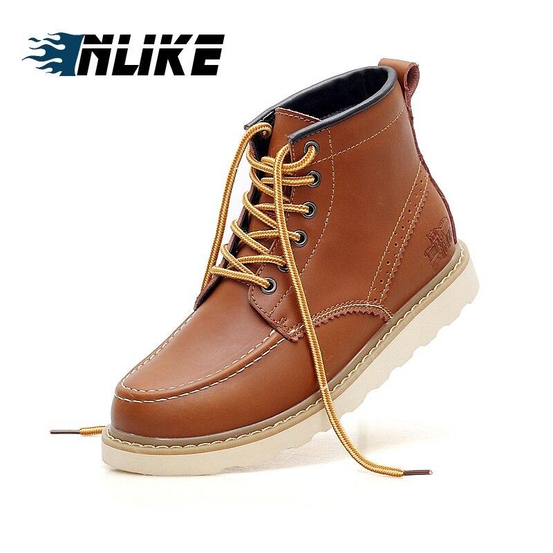 Motocicleta Botas Couro Dos De Homens Do khaki Legal Rebite Genuíno Da Combate Sapatos Inlike brown Preto Exército EAqwtUw