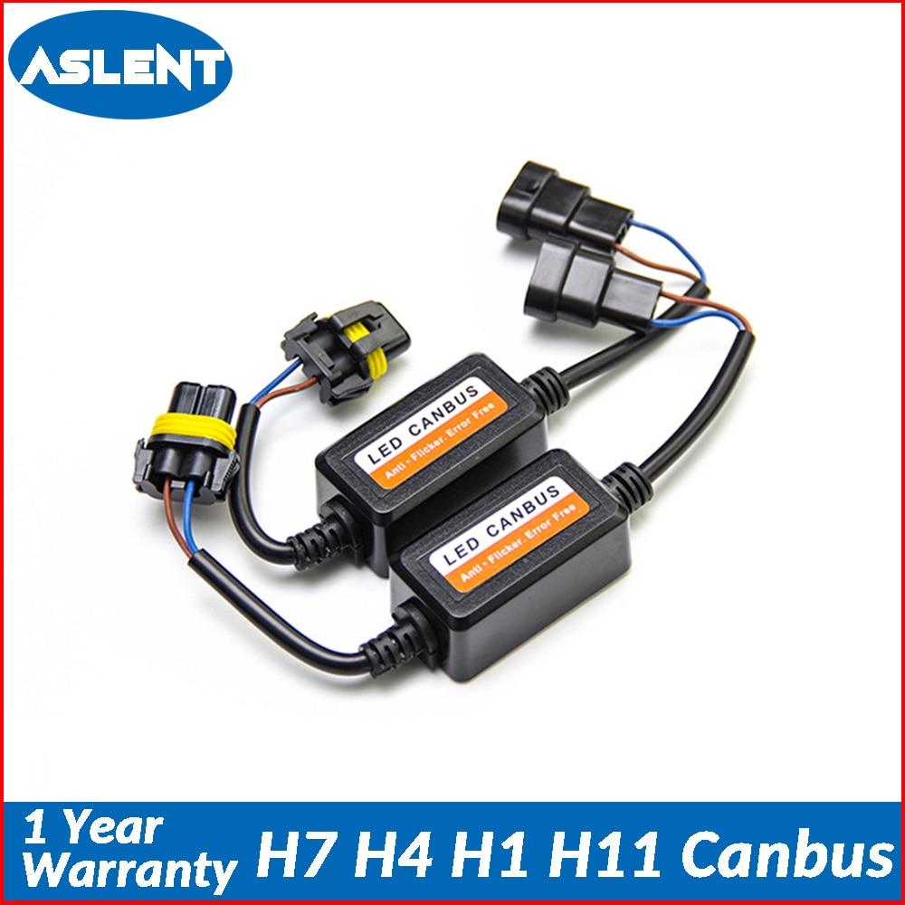 medium resolution of aslent 2pcs h4 h7 h1 h11 9005 9006 car light canbus decoder no error free wiring harness adapter led headlight auto bulb ligts
