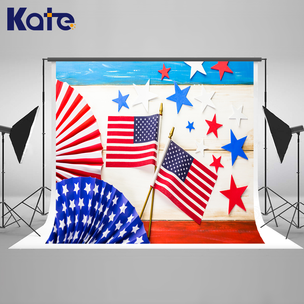 Kate 300x200cm American Flag Photo Studio Photographic Background Independence Day Children Stars Photography Backdrops