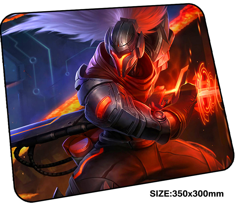 yasuo mousepad gamer 350x300x3mm gaming mouse pad Boy Gift notebook pc accessories laptop padmouse Personality ergonomic mat