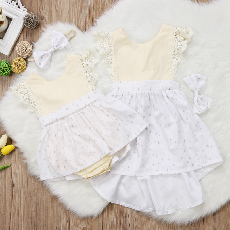 a172400451a8 Sister Family Matching Christmas Dress Romper Outfits Christmas Kids Baby  Girls Xmas Lace Romper Dress Party Dresses for Girls-in Matching Family  Outfits ...