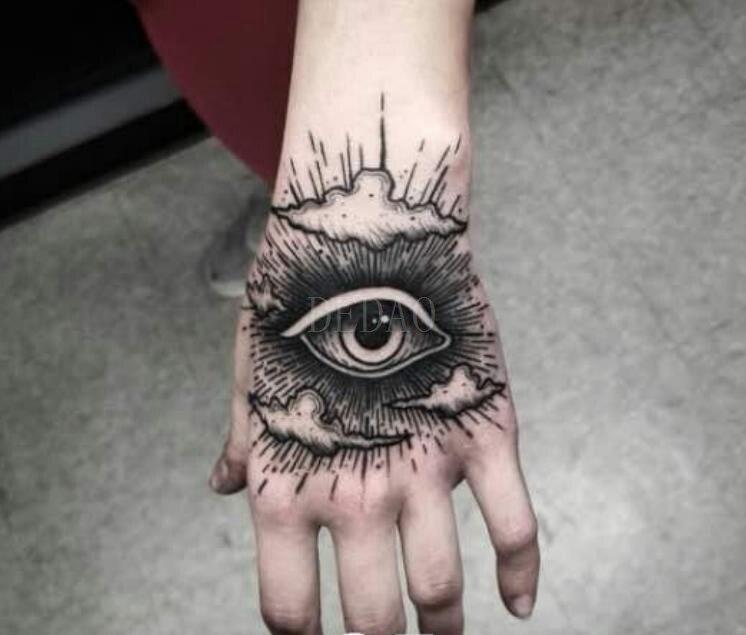 Temporary Tatoo Fake Tattoo Sticker Eye Hand Finger Flash Tatto Tatouage Waterproof Tattoos Stickers For Girl Women Men