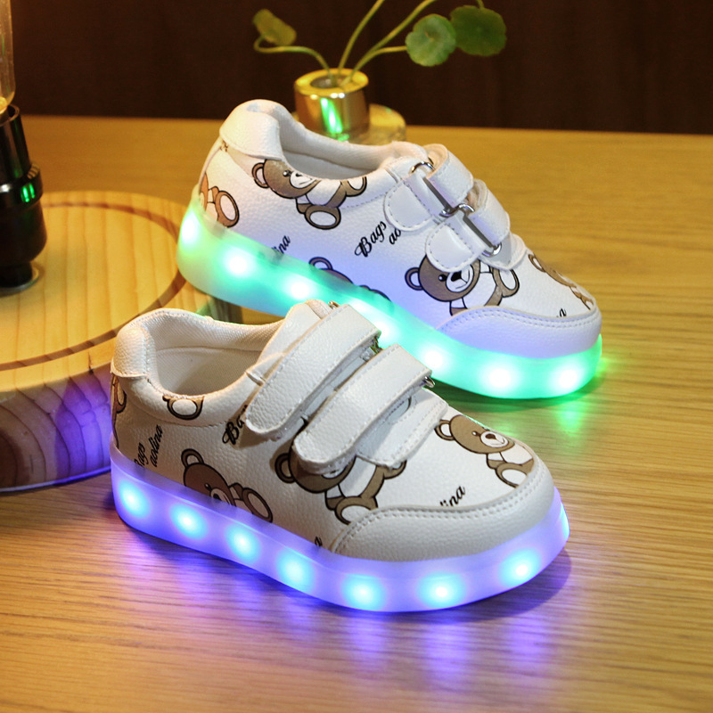 Kids Glowing Luminous Sneakers For Girls Boys USB Charging Basket Led Toddler Children Shoes With Light Up Casual lighting sole new 7 color led glowing sneakers casual kids shoes for boys girls shoes fashion casual light up sneakers with luminous sole