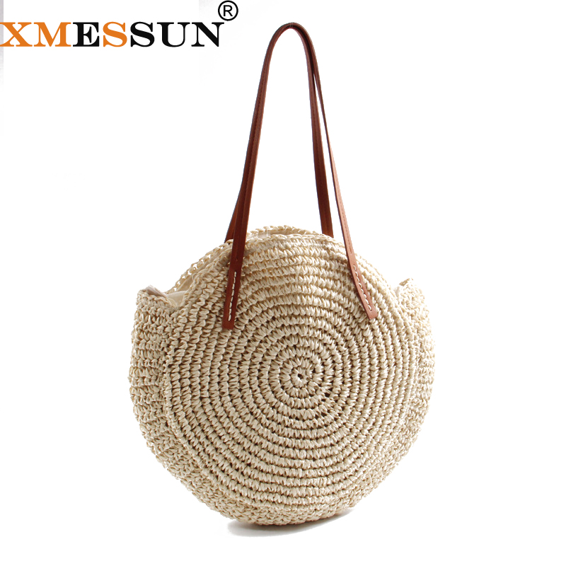 Luggage & Bags Latest Collection Of Retro Summer Women Girls Zipper Linen Straw Handbags High Capacity Travel Casual Beach Holiday Shopping Totes Shoulder Bag Women High Quality Goods Women's Bags