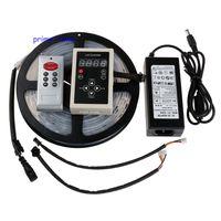 5M 6803 IC 30LED/M 5050 Digital Dream Color RGB LED Strip IP67 Waterproof 12V+ 133 Change RF Controller+12V 5A Power Supply
